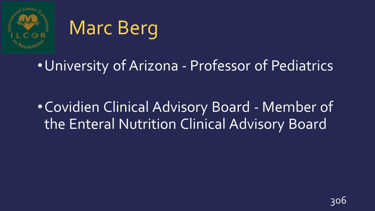 Marc Berg University of Arizona - Professor of Pediatrics