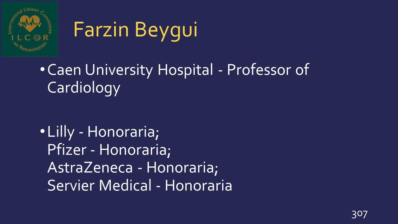 Farzin Beygui Caen University Hospital - Professor of Cardiology