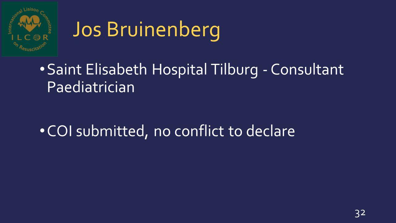 Jos Bruinenberg Saint Elisabeth Hospital Tilburg - Consultant Paediatrician.