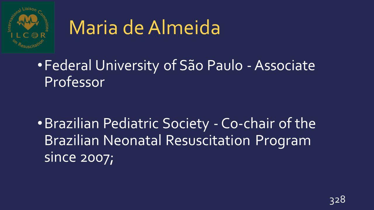 Maria de Almeida Federal University of São Paulo - Associate Professor