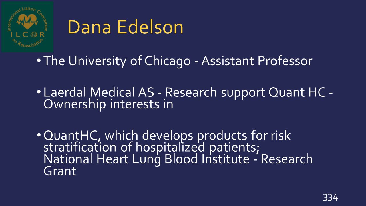 Dana Edelson The University of Chicago - Assistant Professor