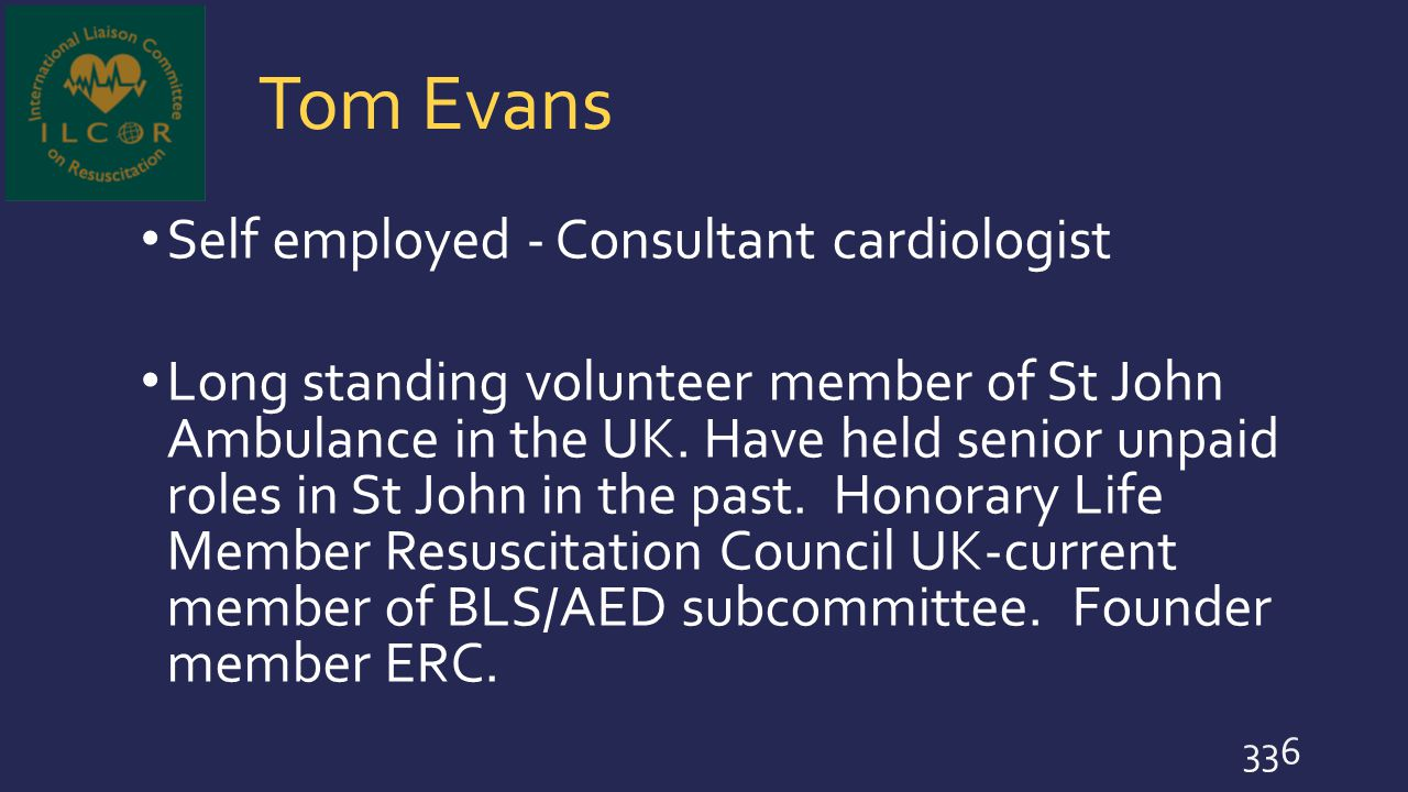 Tom Evans Self employed - Consultant cardiologist