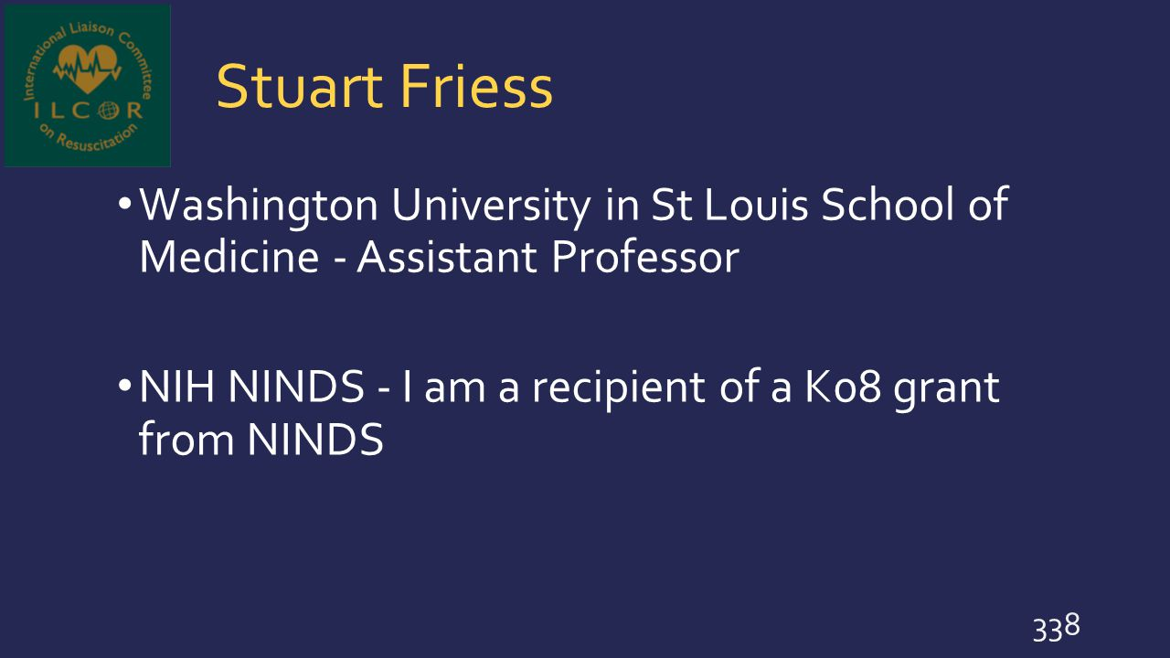 Stuart Friess Washington University in St Louis School of Medicine - Assistant Professor.