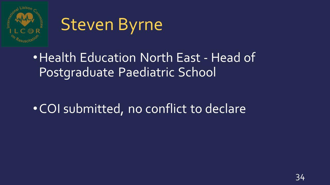 Steven Byrne Health Education North East - Head of Postgraduate Paediatric School.