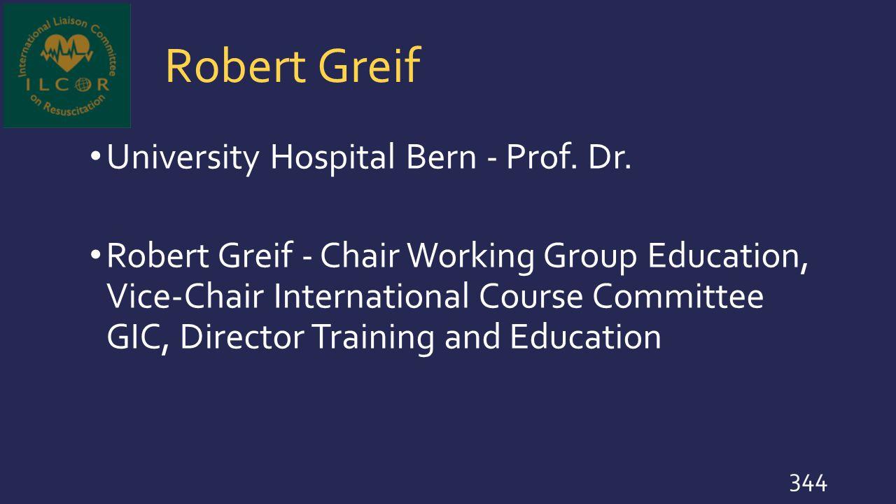 Robert Greif University Hospital Bern - Prof. Dr.
