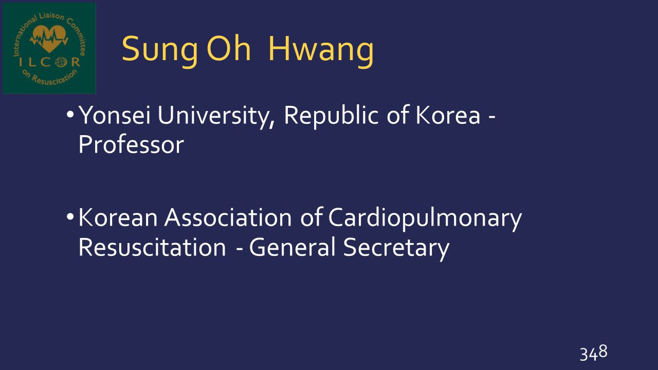 Sung Oh Hwang Yonsei University, Republic of Korea - Professor