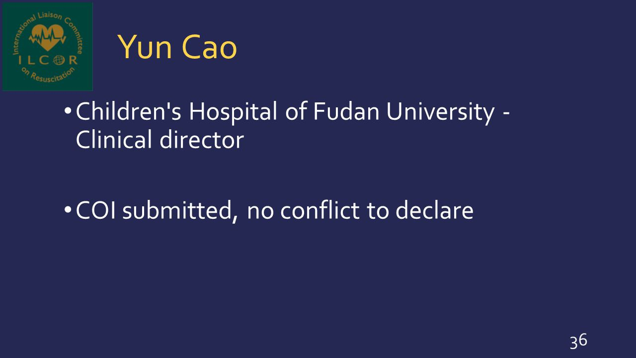 Yun Cao Children s Hospital of Fudan University - Clinical director