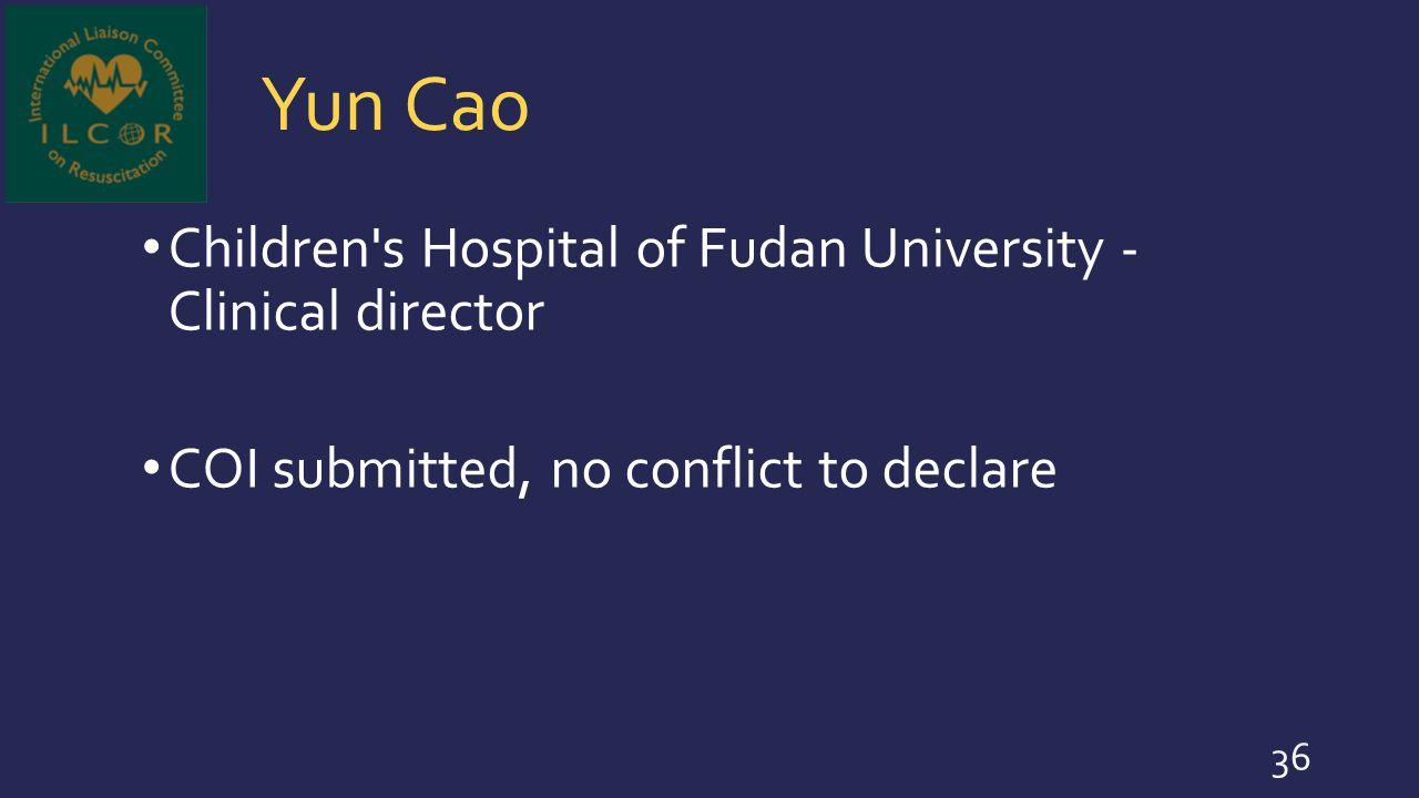 Yun Cao Children s Hospital of Fudan University - Clinical director