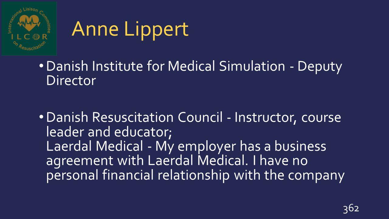 Anne Lippert Danish Institute for Medical Simulation - Deputy Director