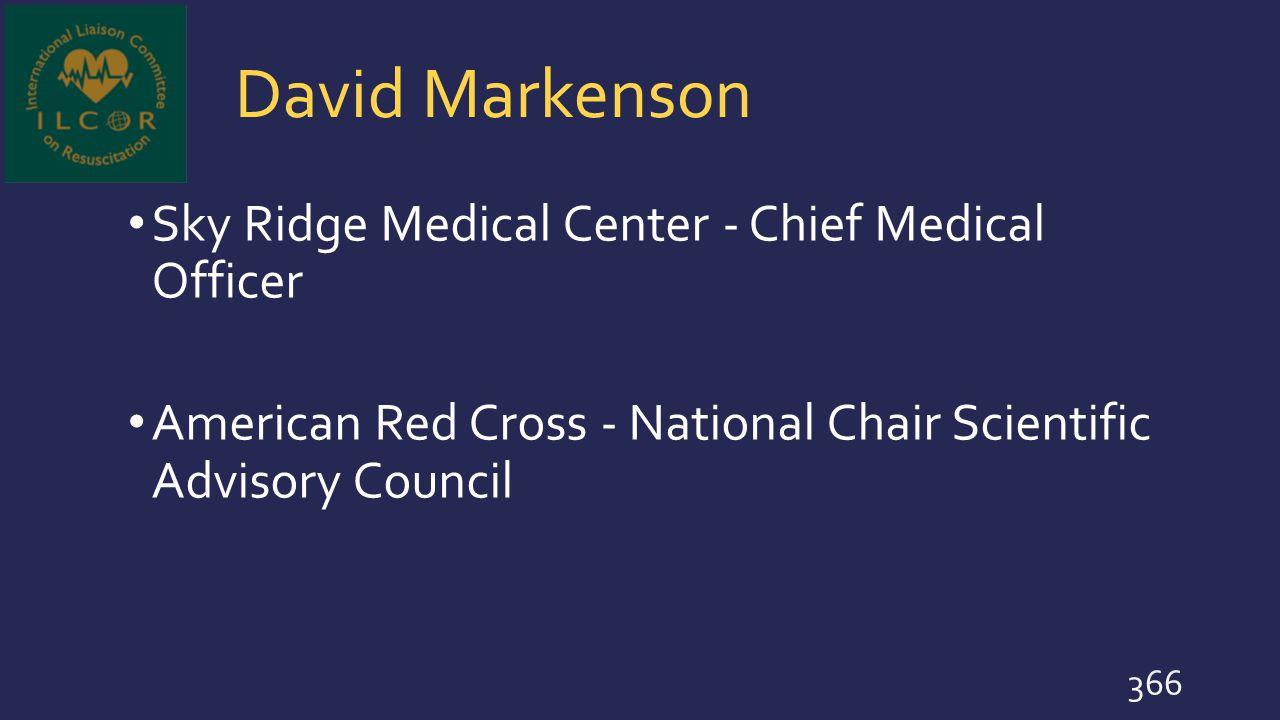 David Markenson Sky Ridge Medical Center - Chief Medical Officer