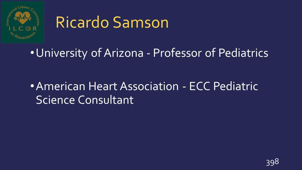 Ricardo Samson University of Arizona - Professor of Pediatrics