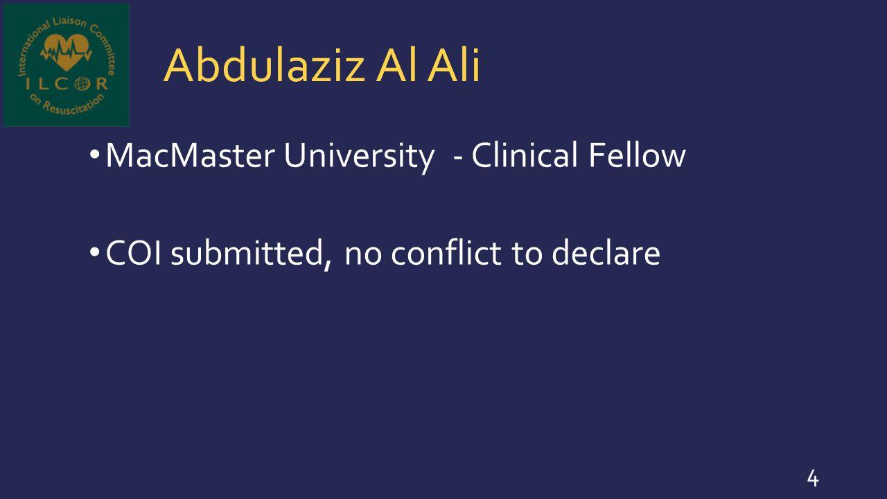 Abdulaziz Al Ali MacMaster University - Clinical Fellow