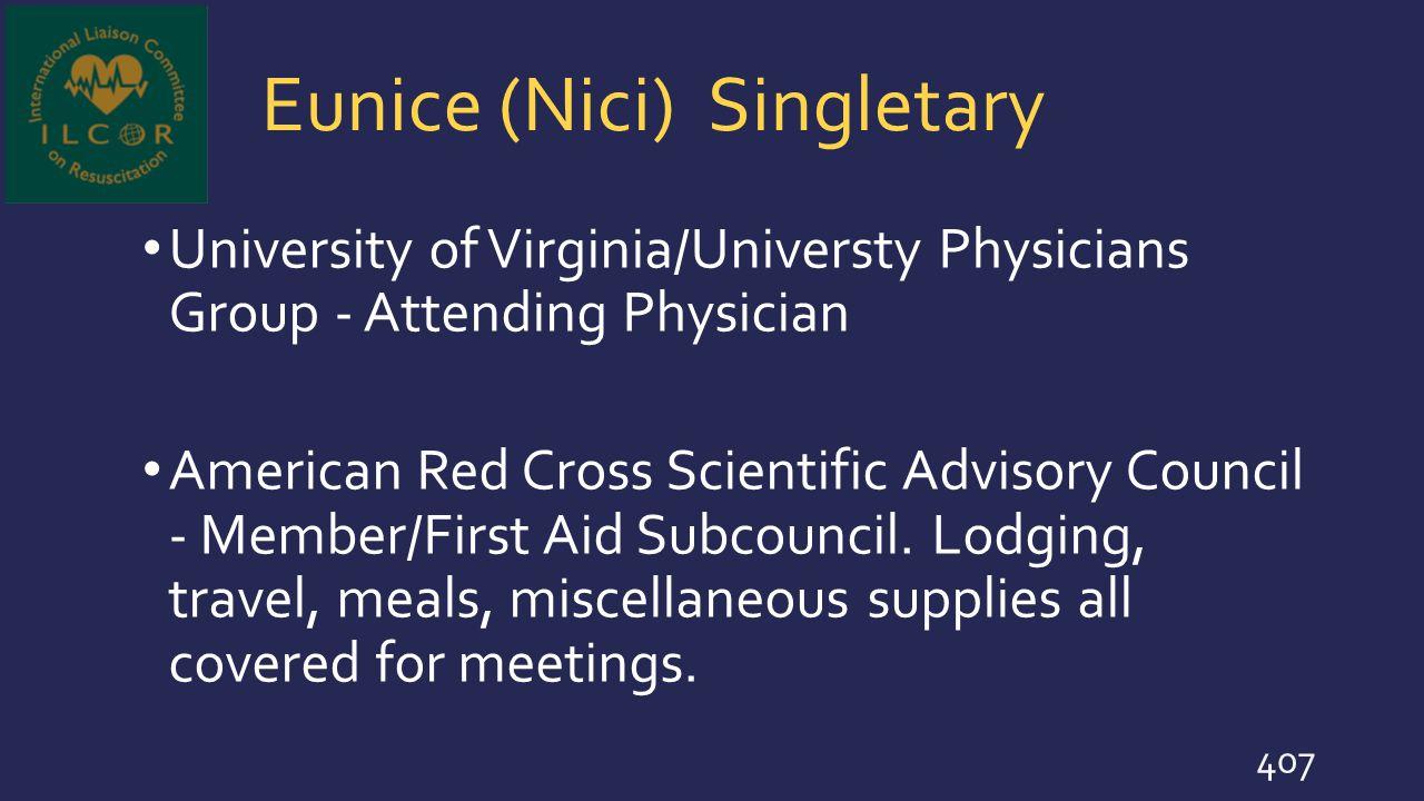 Eunice (Nici) Singletary