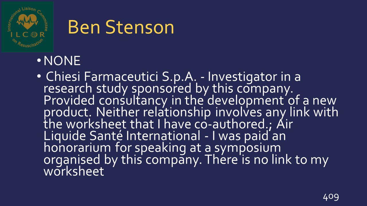 Ben Stenson NONE.