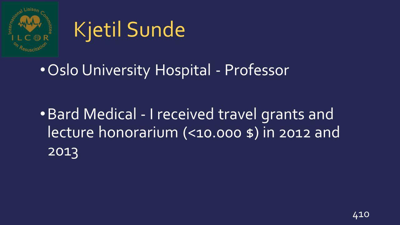 Kjetil Sunde Oslo University Hospital - Professor