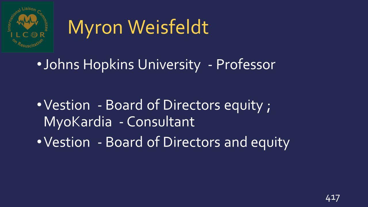 Myron Weisfeldt Johns Hopkins University - Professor