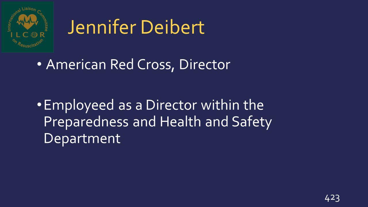 Jennifer Deibert American Red Cross, Director