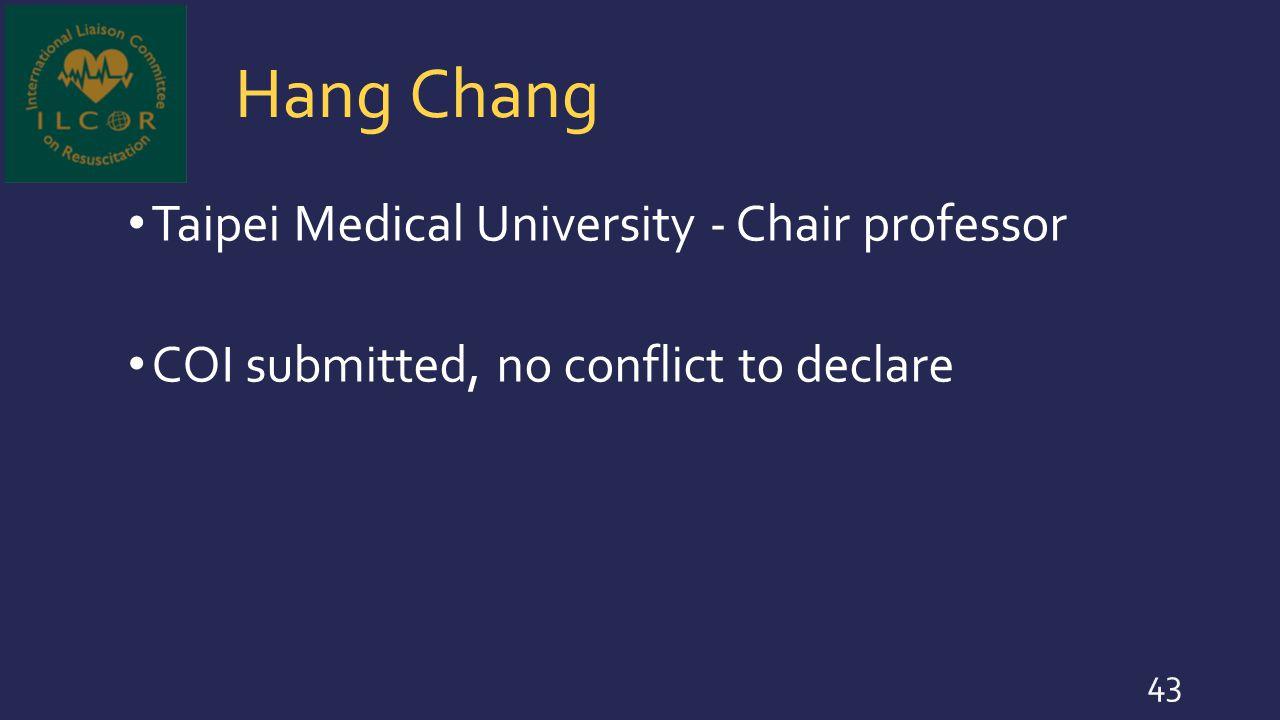Hang Chang Taipei Medical University - Chair professor