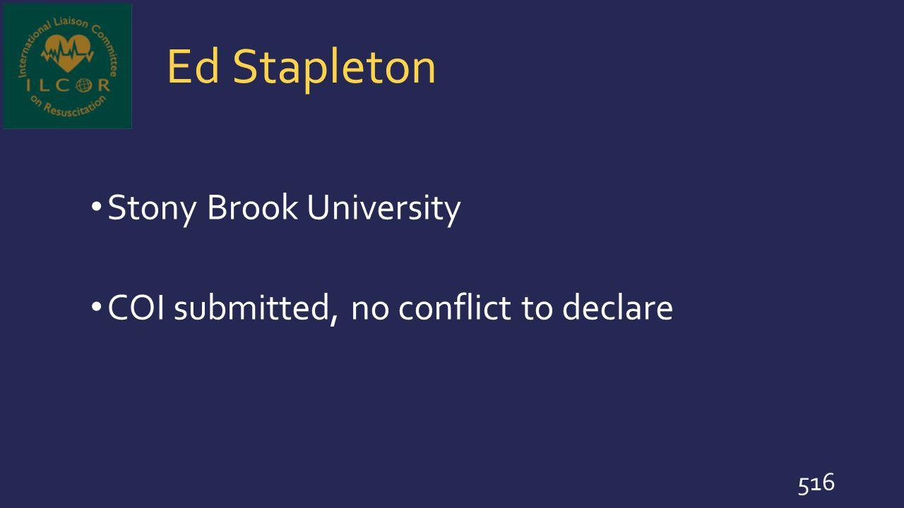 Ed Stapleton Stony Brook University