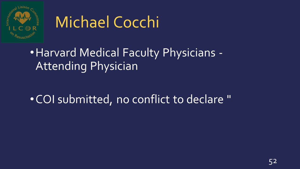 Michael Cocchi Harvard Medical Faculty Physicians - Attending Physician.