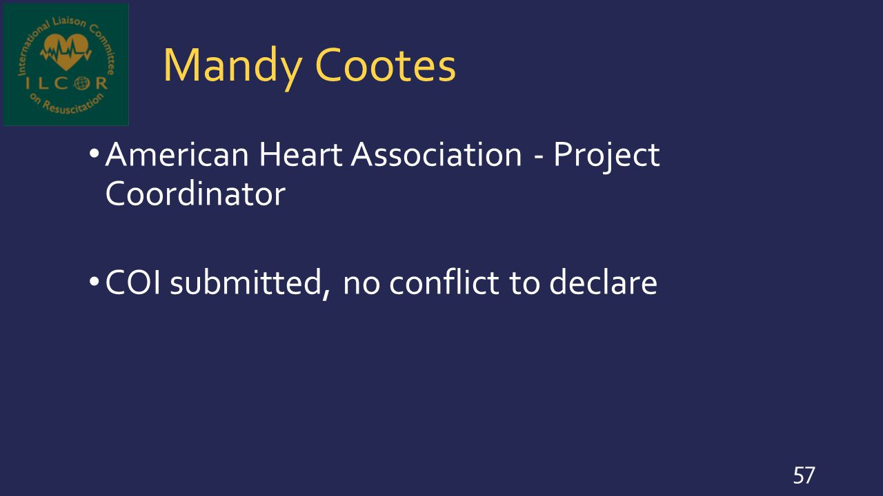 Mandy Cootes American Heart Association - Project Coordinator