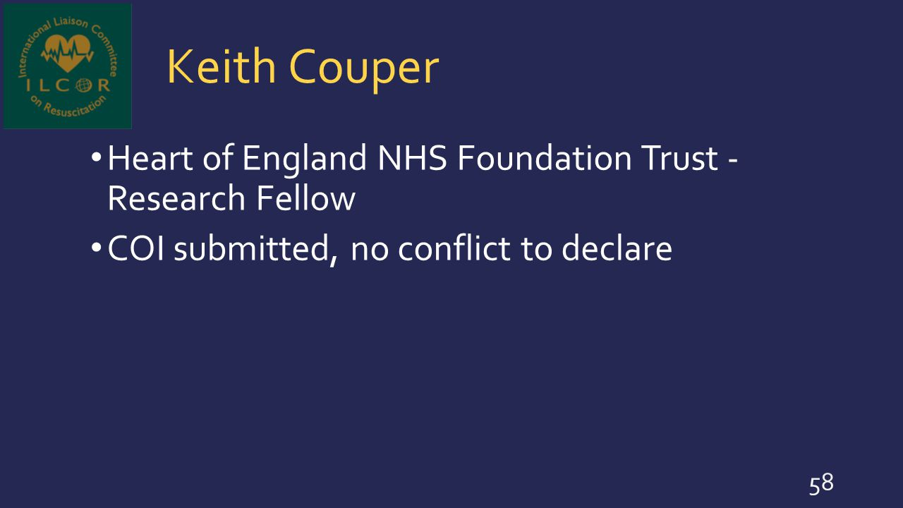 Keith Couper Heart of England NHS Foundation Trust - Research Fellow