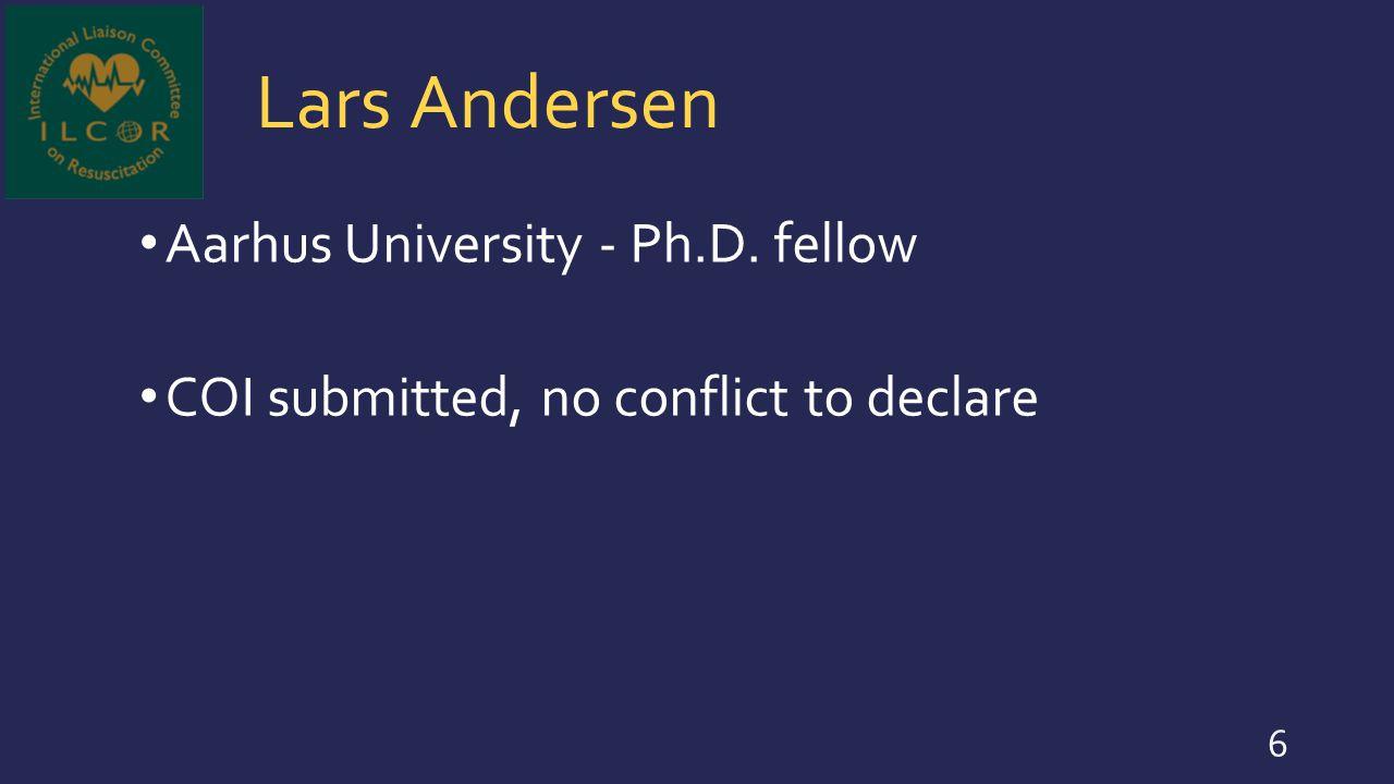 Lars Andersen Aarhus University - Ph.D. fellow