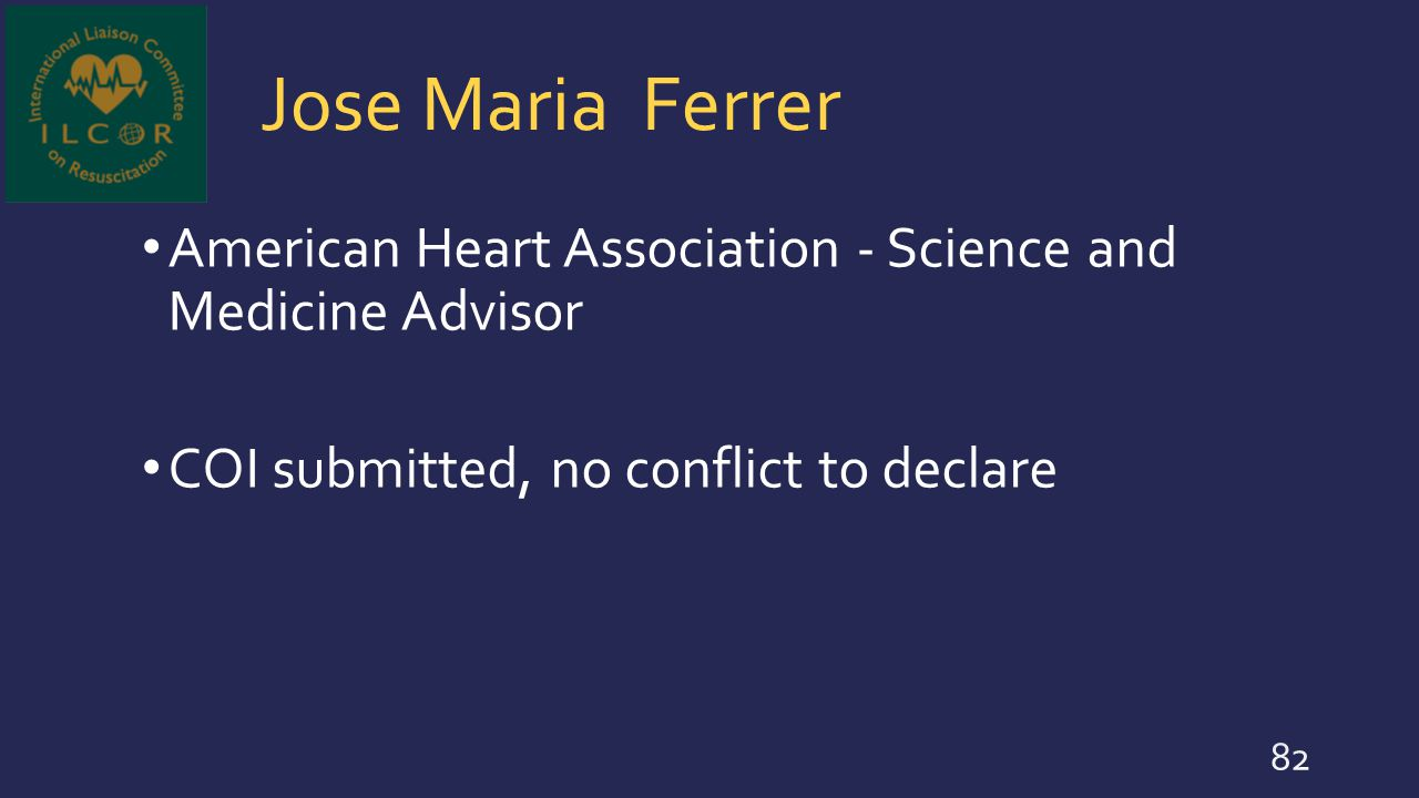 Jose Maria Ferrer American Heart Association - Science and Medicine Advisor.