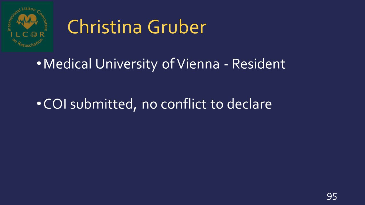 Christina Gruber Medical University of Vienna - Resident