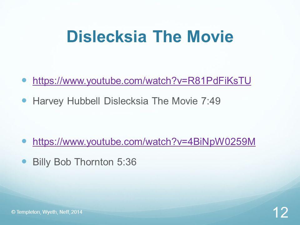 Dislecksia The Movie https://www.youtube.com/watch v=R81PdFiKsTU
