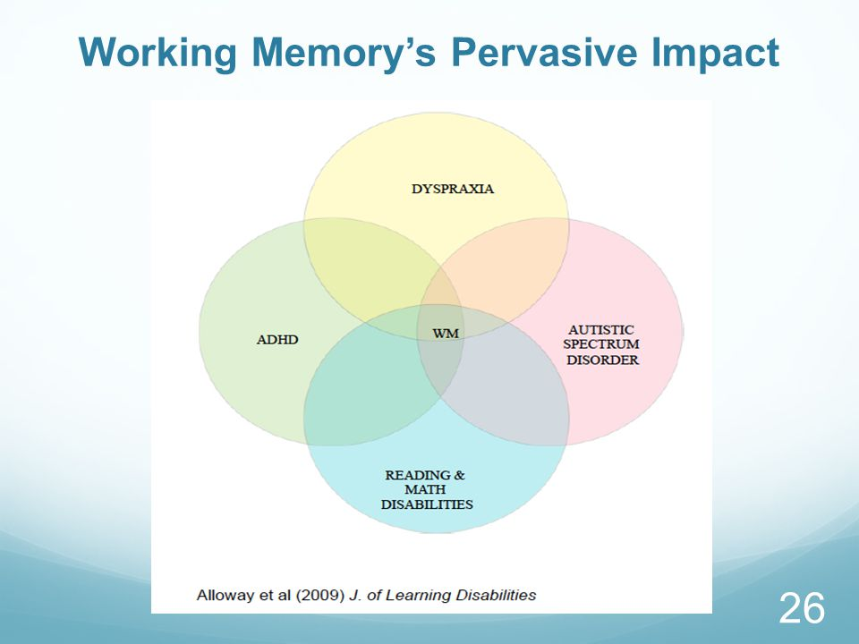 Working Memory's Pervasive Impact