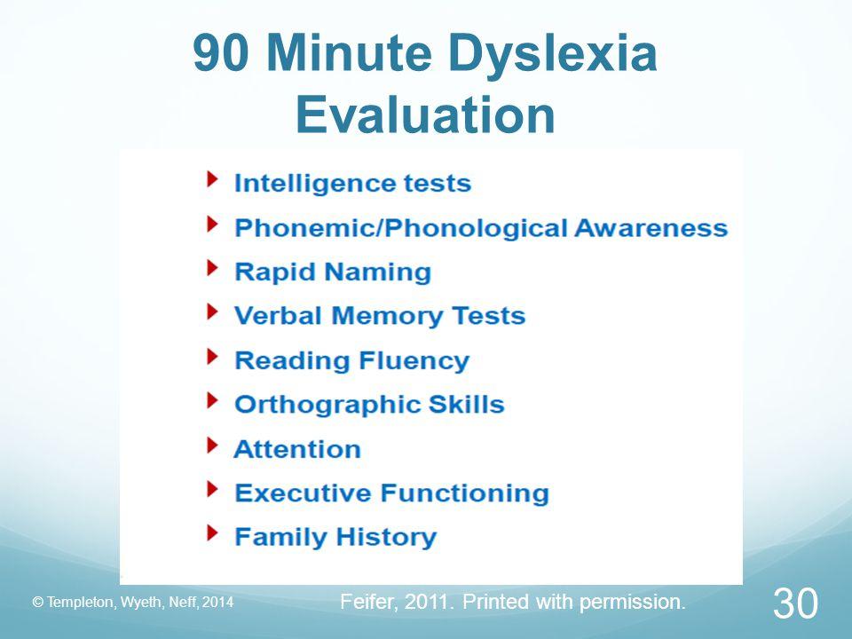 90 Minute Dyslexia Evaluation