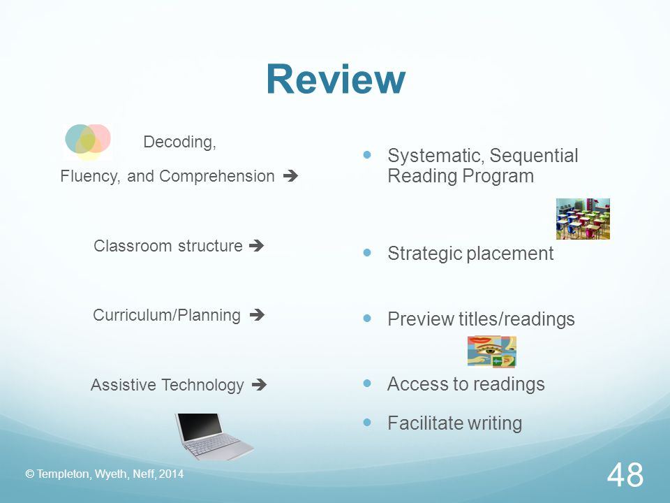 Review Systematic, Sequential Reading Program Strategic placement