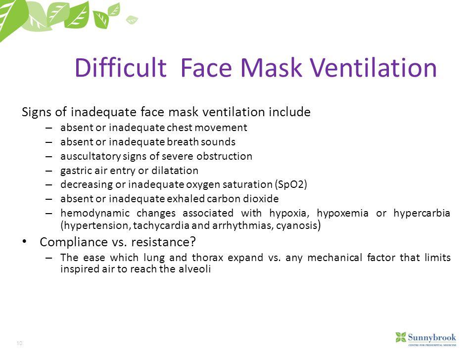 Difficult Face Mask Ventilation