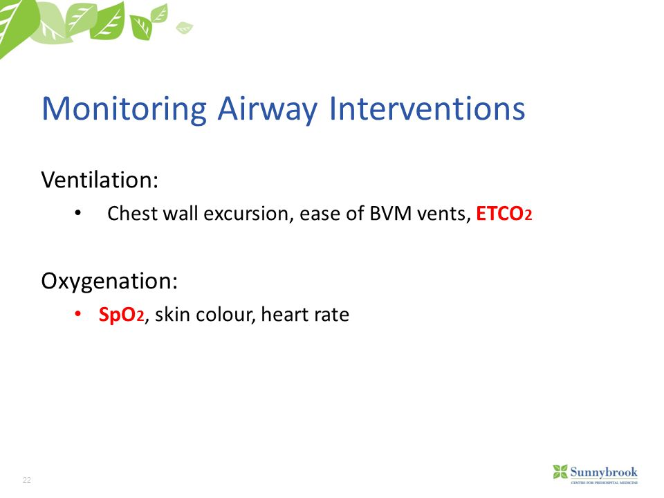 Monitoring Airway Interventions