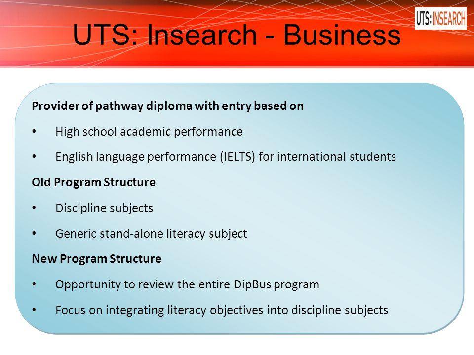 UTS: Insearch - Business