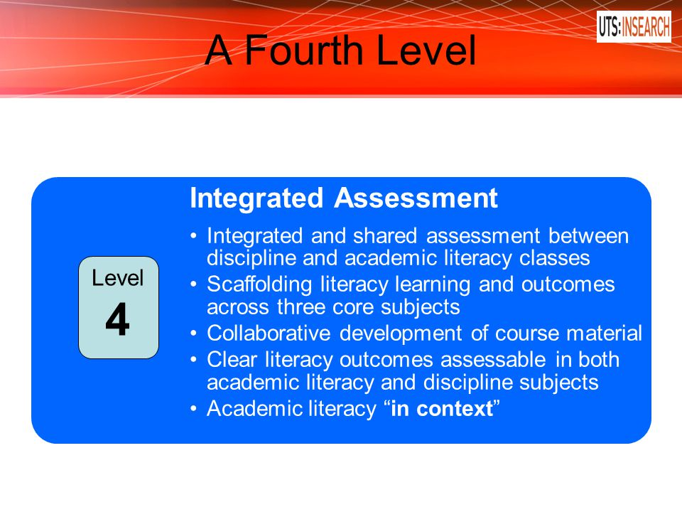 4 A Fourth Level Integrated Assessment Level