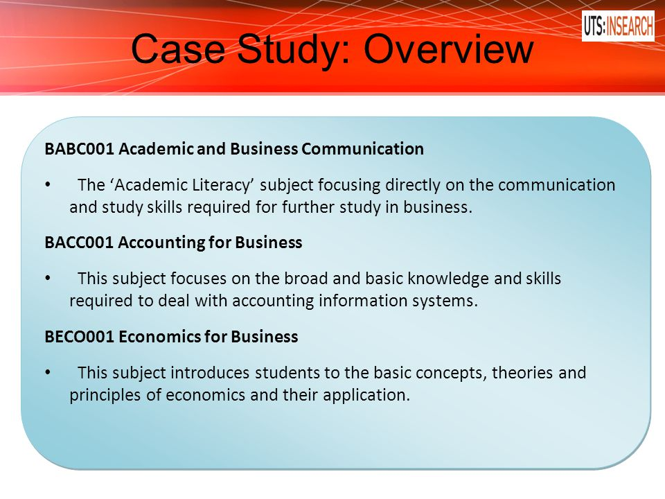 case study for business communication