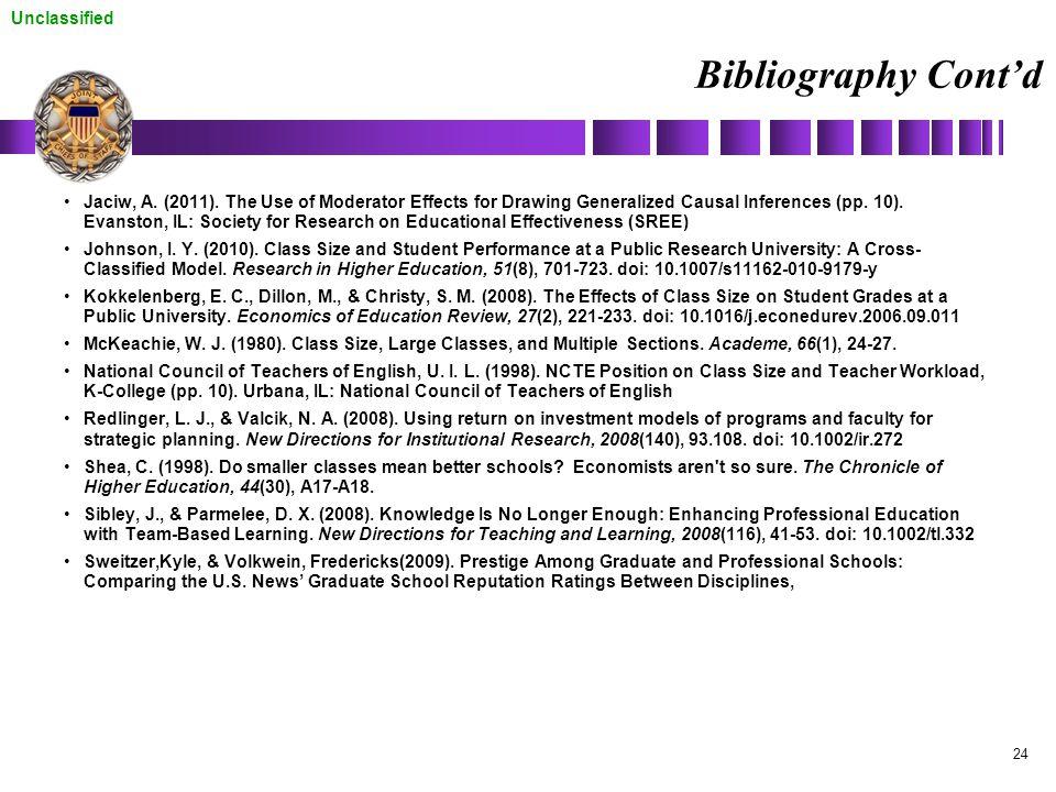 Bibliography Cont'd