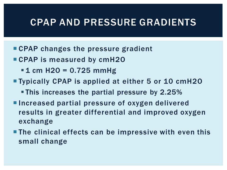 CPAP and Pressure Gradients