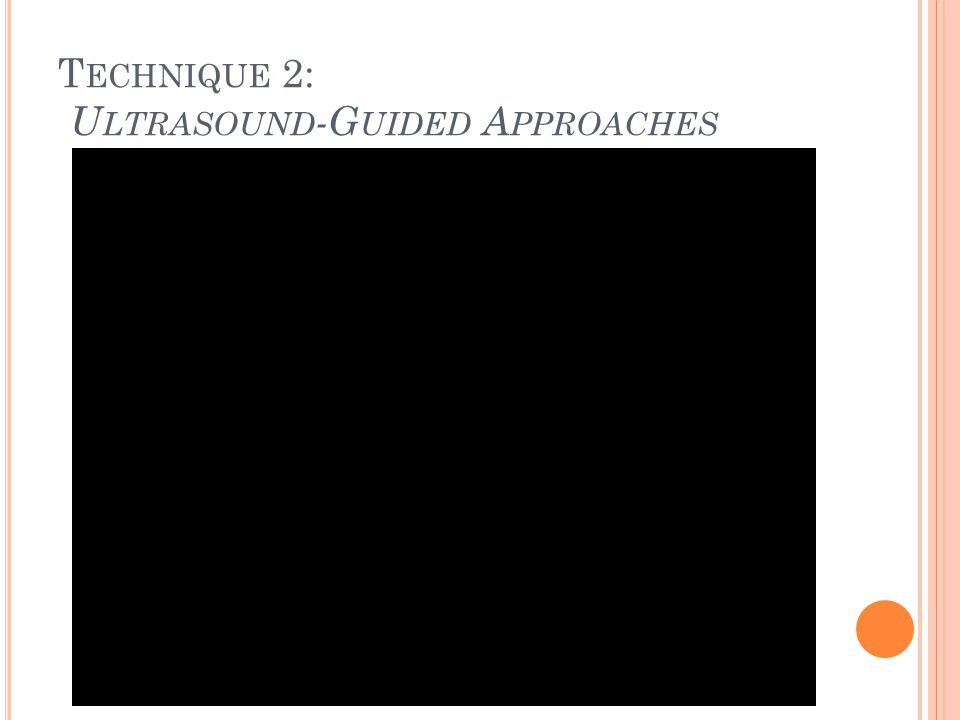 Technique 2: Ultrasound-Guided Approaches