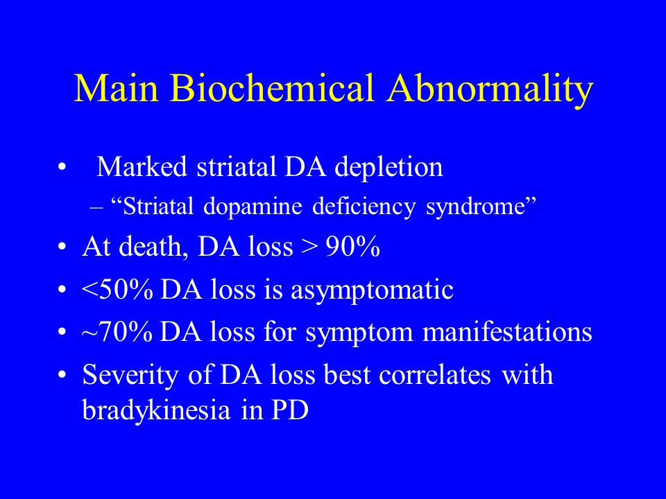 Main Biochemical Abnormality