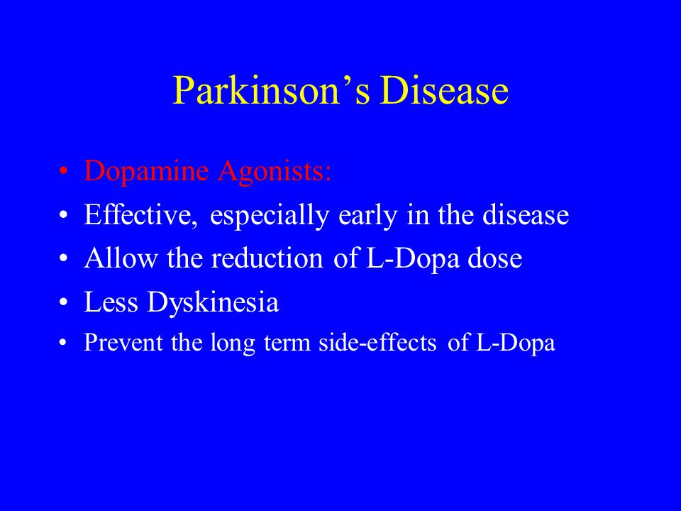 Parkinson's Disease Dopamine Agonists:
