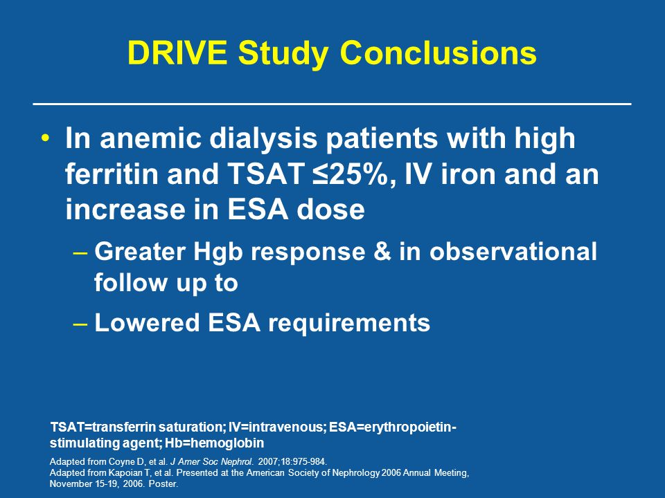 DRIVE Study Conclusions