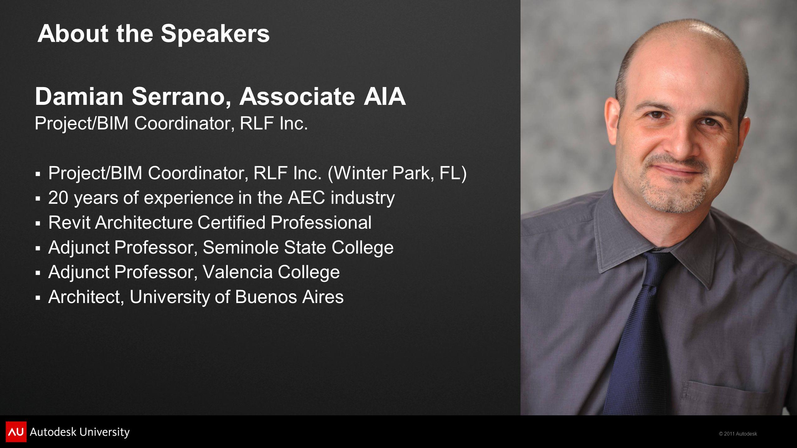 Damian Serrano, Associate AIA