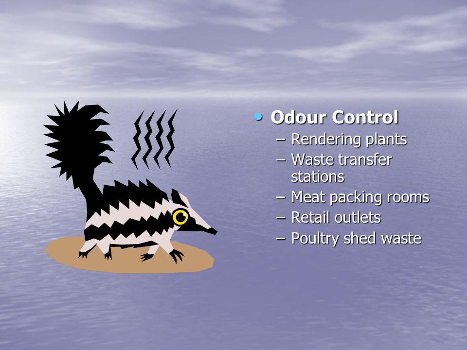 Odour Control Rendering plants Waste transfer stations