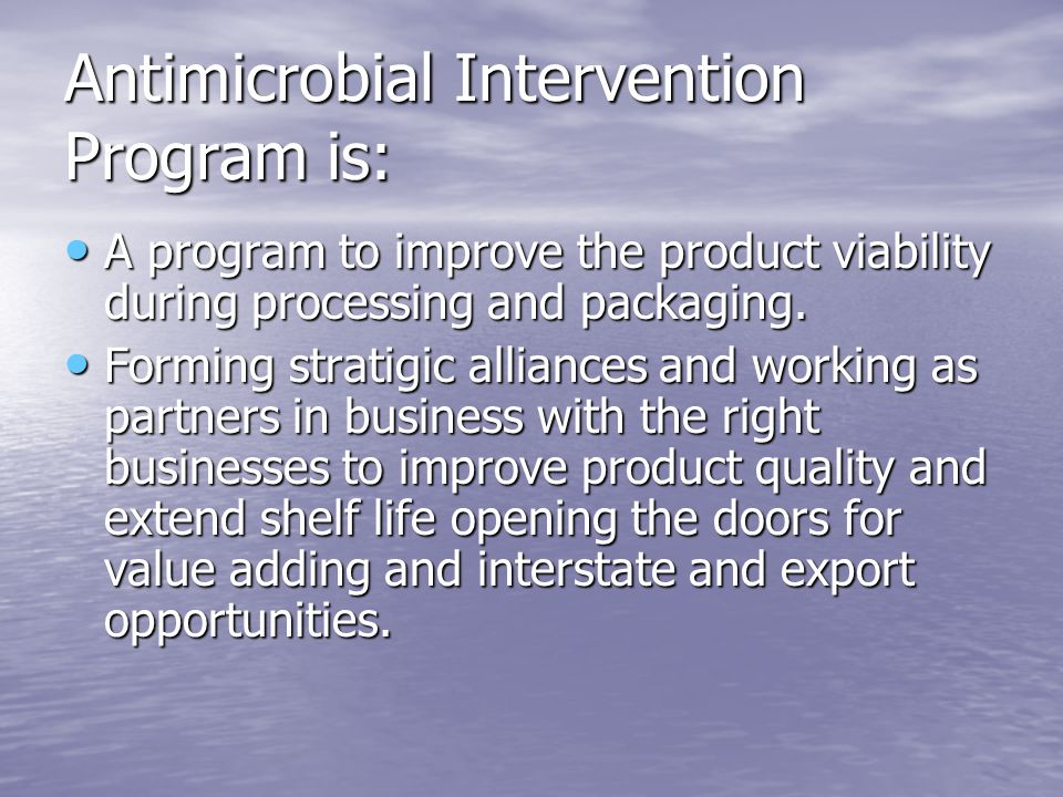Antimicrobial Intervention Program is: