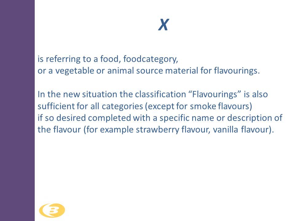 X is referring to a food, foodcategory,