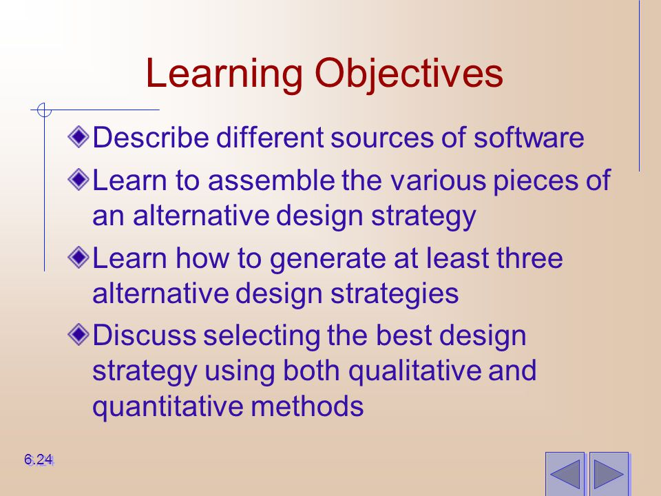Learning Objectives Describe different sources of software