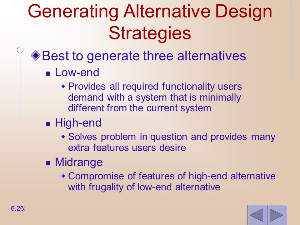 Generating Alternative Design Strategies